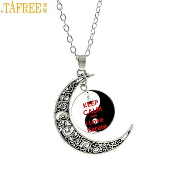TAFREE vintage yin yang tai  Keep Calm And I Love Judo men women pendant necklace casual sports karate fashion jewelry SP594