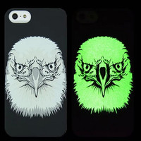 Eagle Animal Handmade Sketch Luminous Light Up iPhone Cases for 5S 6 6S Plus Free Shipping