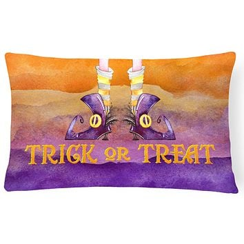 Halloween Trick Witches Feet Canvas Fabric Decorative Pillow BB7460PW1216
