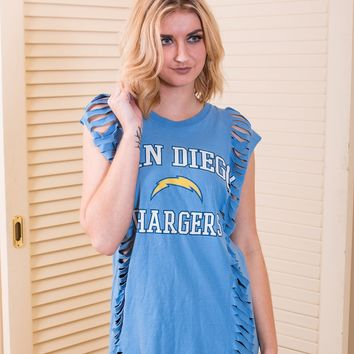 San Diego Chargers Slashed Tank
