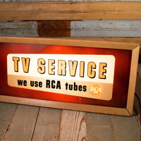 RCA Tubes 'TV Service'' Light Up Sign Prop Rental