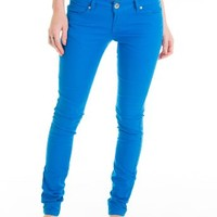 Cotton Cantina Juniors Skinny Jeans Bold Colors (13, Bright Blue)