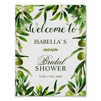 Welcome Sign | Elegant Olive Boho Bridal Shower