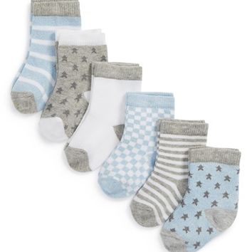 Infant Nordstrom Baby Crew Socks (6-Pack)