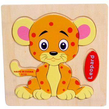 25 Patterns Baby Kids Cartoon Animals Wooden Kids Jigsaw Toys Education And Learning Puzzles Toys Baby Educational Kids Children