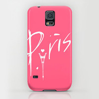 Apple iPhone case for iphone 5 iphone 5s iphone 5c iphone 4 iphone 4s iPhone 3gs Samsung Galaxy S5 Galaxy S4. Hot Pink Paris Typography Case