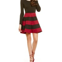 Jodi Kristopher Long Sleeve Striped Skirt Dress | Dillards
