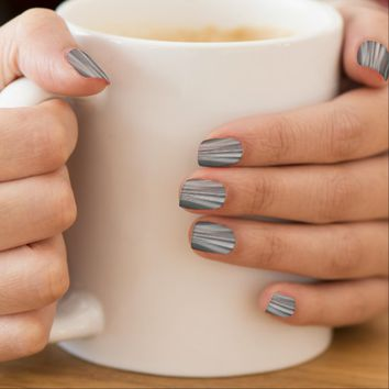 Gray Mist Futuristic Driving Dreams Minx Nail Art