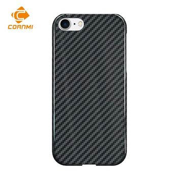 CORNMI Luxury Case For iPhone 8 Cover Real Carbon Fiber 4.7 inch Phone Case Ultra Thin Back Shell Housing
