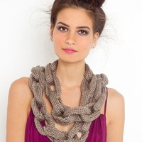 Chain Link Scarf - Taupe in  What's New at Nasty Gal