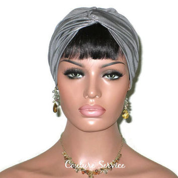 Handmade Silver Twist Turban, Metallic