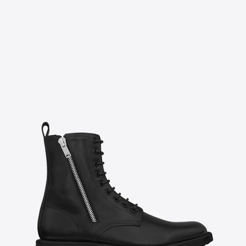 Saint Laurent Rangers 25 Zip Boots In Black Leather | ysl.com