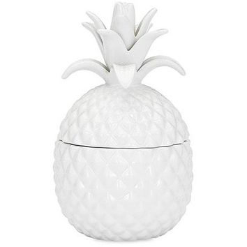 Aloha Lidded White Pineapple Vase