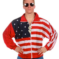 The Merica USA American Flag Windbreaker