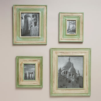 Green and White Piper Wall Frames - World Market