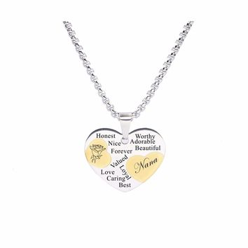 Two Tone Solid Stainless Steel Heart Pendant Necklace By Pink Box - Nana