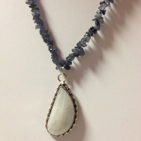 Iolote Chip Moonstone Pendant Necklace