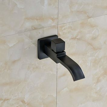 Free Shipping Oil Rubbed Bronze Solid Brass Waterfall Bathroom Poll Faucet Shower Spout Tap