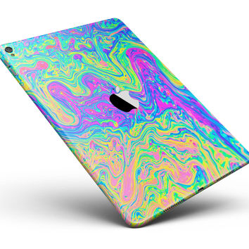 """Neon Color Swirls V2 Full Body Skin for the iPad Pro (12.9"""" or 9.7"""" available)"""