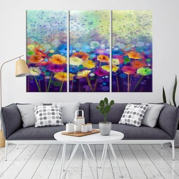67214 - Abstract Flower Painting Canvas Print   Abstract Wall Art Print   Flower Wall Art