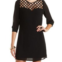 Strappy Chiffon Shift Dress by Charlotte Russe