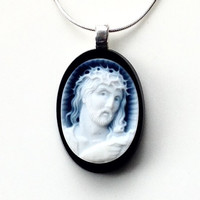 Religous Jewelry Christian Jewelry Pendant Cameo Necklace