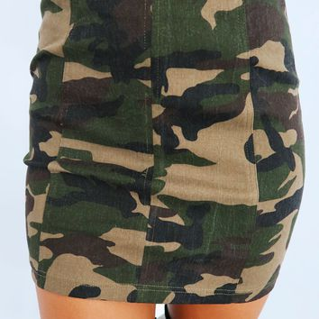 Can't See Me Skirt: Camo