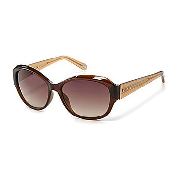 Fossil Oval Wrap Sunglasses