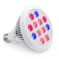 TaoTronics Led Grow light Bulb , Grow Plant Light for Hydropoics Greenhouse Organic ( E27 12w 3 Bands)