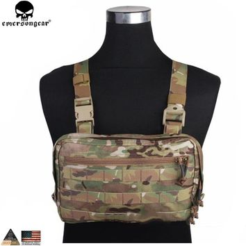 EMERSONGEAR EDC Bag Chest Recon Bag Tool Pouch Combat Tactical Vest Pouch Bag Multicam Black EM9285