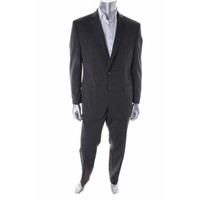 Calvin Klein Mens Wool Extreme Slim Fit Two-Button Suit