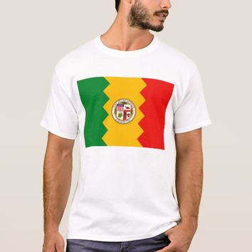 T Shirt with Flag of Los Angeles, California, USA