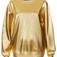 Metallic Sweat By Tee And Cake - Topshop USA