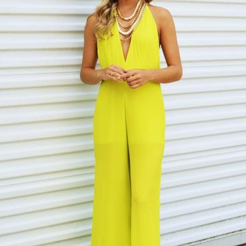 Steal My Sunshine Jumper: Chartreuse