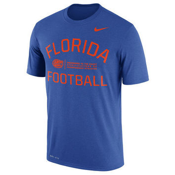 NCAA Florida Gators Mens Blue Nike Legend Performance T-Shirt