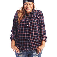 Plaid Flannerl Shirt | Wet Seal+