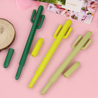 1 Pcs Cute Creative Cactus Gel Pens Stationery Office School Supplies Tenacious Plant Gel Pen