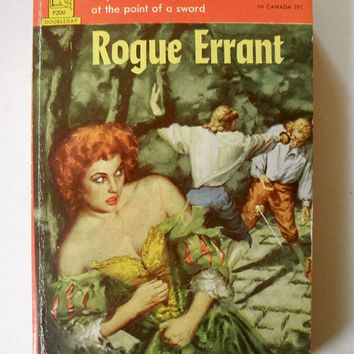 SULTRY Vintage Pulp Fiction // Rogue Errant by Michael Leigh // Paperback Book 1953 // First Edition