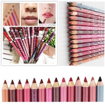 Hot Lot Colors Professional 12 PCS  Lipliner Waterproof Lip Liner Pencil 15CM
