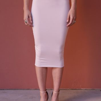 West Coast Wardrobe  Working Late Pencil Skirt in Blush