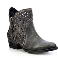 Circle G by Corral Black & Grey Cutout Shortie Boots