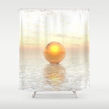 Frozen Gold Shower Curtain by Phil Perkins