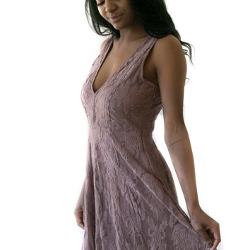 Fall Nights Dress In Mauve