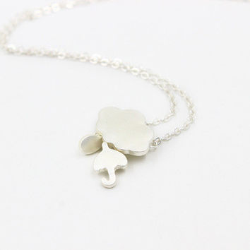 Cute Cloud Umbrella Women Birthday Gift Casual Jewelry Accessories Necklace _ 2034