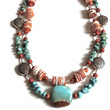 Southwestern Necklace, Turquoise Necklace, Sunrise Necklace, Turquoise and Spiny Oyster Shell Necklace, Aqua and Peach necklace, Sundance
