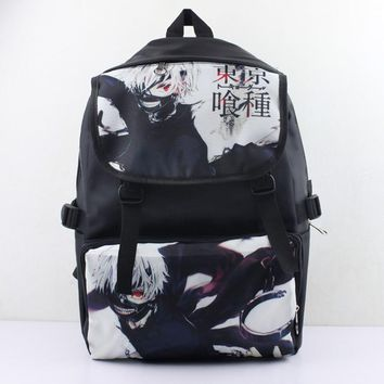 Anime Nylon Waterproof Laptop Backpack/Double-Shoulder Bag/School Bag Printed with Kaneki Ken of Tokyo Ghoul