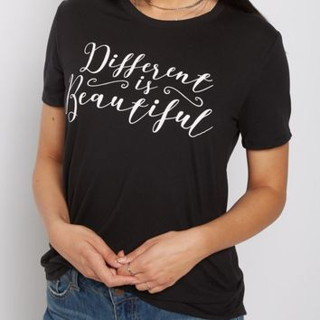 Different Is Beautiful Soft Knit Tee | Graphic Tees | rue21