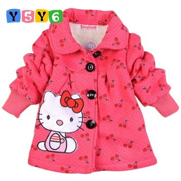 new baby girl winter coat 2018 Children Outerwear, girls Hello Kitty Winter Coat, baby& kids jackets, girl's clothing