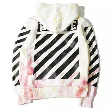 Off White Unisex Hoodies Stripes Sweater [415654051876]