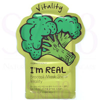 TonyMoly I'm Real Face Mask Sheet - Broccoli  *exp.date 05/18
